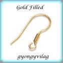 Gold Filled fülbevalókapocs EFK A 68 G, Gyöngy, ékszerkellék, Egyéb alkatrész, Ékszerkészítés, Gyöngy, EFK A 68 G 14K arannyal bevont (gold filled) 925-ös ezüst fülbevalókapocs .  1 pár   A Gold Filled ..., Alkotók boltja