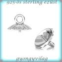 925-ös ezüst medálkapocs EMK 67 e, Gyöngy, ékszerkellék, Egyéb alkatrész,  EMK 67 e  925-ös fémjellel ellátott valódi ezüst (bevizsgált)medálkapocs, stift félig fúrt gyöngyhö..., Alkotók boltja