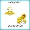 Gold Filled medálkapocs EMK 67 G , Gyöngy, ékszerkellék, Egyéb alkatrész, 14K arannyal bevont (gold filled) 925-ös ezüst medálkapocs  A méreteket a fotón láthatod. A swarovsk..., Alkotók boltja