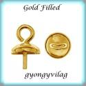 Gold Filled medálkapocs EMK 69 G , Gyöngy, ékszerkellék, Egyéb alkatrész, 14K arannyal bevont (gold filled) 925-ös ezüst medálkapocs  A méreteket a fotón láthatod. A swarovsk..., Alkotók boltja