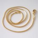Aranyozott nyaklánc ABÜL 05 43, Gyöngy, ékszerkellék, Egyéb alkatrész, ABÜL 05 43  Aranyozott kígyó nyaklánc.    A lánc hossza: 43cm  , Alkotók boltja