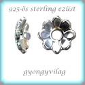 925-ös sterling ezüst gyöngykupak  1db/ csomag  EGYK 35, Gyöngy, ékszerkellék, Fém köztesek, Ékszerkészítés, Fém köztesek, EGYK 35  925-ös fémjellel ellátott antikolt valódi ezüst (bevizsgált) gyöngykupak.   1 db / csomag ..., Alkotók boltja