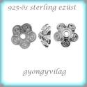 925-ös sterling ezüst gyöngykupak  1db/ csomag  EGYK 36, Gyöngy, ékszerkellék, Fém köztesek, Ékszerkészítés, Fém köztesek, EGYK 35  925-ös fémjellel ellátott antikolt valódi ezüst (bevizsgált) gyöngykupak.   1 db / csomag ..., Alkotók boltja