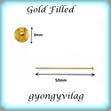 Gold  Filled szerelőpálca szög végű  50  x 0,8mm-es, Gyöngy, ékszerkellék, Egyéb alkatrész, Ékszerkészítés, Mindenmás, Szerelékek, Gold Filled 50mm hosszú 0,8mm drótvastagságú. A végén lapított .  1db/csomag   Gold Filled (aranydi..., Alkotók boltja