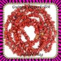 ásvány chips fűzér 6-10 mm-es  red jasper, Gyöngy, ékszerkellék, Egyéb alkatrész, Ásvány chips fűzér  Mérete: 6-10 mm-es  Színe: red jasper  A füzér hossza: 90 cm     , Alkotók boltja
