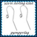 925-ös sterling ezüst ékszerkellék: fülbevalóalap akasztós EFK A 59-4, Gyöngy, ékszerkellék, Egyéb alkatrész, EFK A 59-4 --- 925-ös fémjellel ellátott valódi ezüst (bevizsgált) akasztós fülbevalóalap, ..., Alkotók boltja