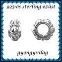 925-ös sterling ezüst ékszerkellék: köztes / gyöngy / dísz EKÖ 65, Gyöngy, ékszerkellék, Fém köztesek, EKÖ 65   925-ös valódi  ezüst (bevizsgált) köztes / gyöngy / díszitőelem .    1 db / csomag..., Alkotók boltja