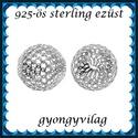 925-ös sterling ezüst ékszerkellék: köztes / gyöngy / dísz EKÖ 26-6, Gyöngy, ékszerkellék, Fém köztesek, EKÖ 26-6   925-ös valódi  ezüst (bevizsgált) köztes / gyöngy / díszitőelem .    1 db / csom..., Alkotók boltja