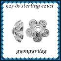 925-ös sterling ezüst ékszerkellék: gyöngykupak EGYK 16 1db/ csomag 9,6mm-es, Gyöngy, ékszerkellék, Fém köztesek, EGYK 16  925-ös fémjellel ellátott  valódi ezüst (bevizsgált) gyöngykupak.   1 db / csomag  E..., Alkotók boltja