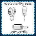 925-ös sterling ezüst ékszerkellék: medáltartó, medálkapocs EMT 30-9,5, Gyöngy, ékszerkellék, Egyéb alkatrész, EMT 30-9,5  925-ös fémjellel ellátott valódi ezüst (bevizsgált)medáltartó,csúszókapocs.   ..., Alkotók boltja