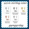 925-ös sterling ezüst ékszerkellék: medáltartó, medálkapocs EMT 30-9,5, Gyöngy, ékszerkellék, Egyéb alkatrész, Alkotók boltja