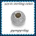 925-ös sterling ezüst ékszerkellék: köztes/gyöngy/díszitőelem  EKÖ 34 5mm, Gyöngy, ékszerkellék, Fém köztesek, EKÖ 34-5   925-ös valódi  ezüst (bevizsgált) köztes / gyöngy / díszitőelem .    1 db / csomag    Az ..., Alkotók boltja