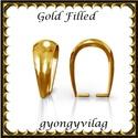 925-ös sterling ezüst ékszerkellék: medáltartó, medálkapocs EMK 77-7AU Gold Filled, Gyöngy, ékszerkellék, Egyéb alkatrész,  EMK 77-7AU  14K arannyal bevont (gold filled) 925-ös ezüst medálkapocs.  A méreteket a fotón láthat..., Alkotók boltja