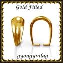 925-ös sterling ezüst ékszerkellék: medáltartó, medálkapocs EMK 77-11AU Gold Filled, Gyöngy, ékszerkellék, Egyéb alkatrész,  EMK 77-11AU  14K arannyal bevont (gold filled) 925-ös ezüst medálkapocs.  A méreteket a fotón látha..., Alkotók boltja