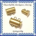 Ékszerkellék: lánckapocs BLK-2S-01 mágneses lánckapocs, Gyöngy, ékszerkellék, Egyéb alkatrész, Ékszerkészítés, Mindenmás, Szerelékek, Bronz, 2 soros mágneses lánckapocs.  1db / csomag , Alkotók boltja
