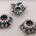 925-ös sterling ezüst gyöngykupak mm EGYK 01 B, Gyöngy, ékszerkellék, Egyéb alkatrész, Ékszerkészítés, Gyöngy, 925-ös  valódi antikolt ezüst (bevizsgált) gyöngykupak.  1db / csomag   Méretek a fotón láthatók!  ..., Alkotók boltja