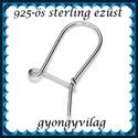925-ös sterling ezüst ékszerkellék: fülbevalóalap biztonsági kapoccsal EFK K 12, Gyöngy, ékszerkellék, Egyéb alkatrész, EFK K 12 --- 925-ös fémjellel ellátott valódi ezüst (bevizsgált)fülbevalóalap, biztonsági k..., Alkotók boltja