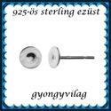 925-ös sterling ezüst ékszerkellék: fülbevalóalap bedugós EFK B 38-4, Gyöngy, ékszerkellék, Egyéb alkatrész, Ékszerkészítés, Mindenmás, Szerelékek, EFK B 38-4  925-ös fémjellel ellátott valódi ezüst (bevizsgált) bedugós fülbevalóalap.A swarovski s..., Alkotók boltja