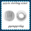 925-ös sterling ezüst ékszerkellék: köztes / gyöngy / dísz EKÖ 80-5, Gyöngy, ékszerkellék, Egyéb alkatrész, Ékszerkészítés, Mindenmás, Szerelékek, EKÖ 80-5  925-ös valódi  ezüst (bevizsgált) köztes / gyöngy / díszitőelem .    1db / csomag  Ezt a ..., Alkotók boltja