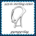 925-ös sterling ezüst ékszerkellék: fülbevalóalap biztonsági kapoccsal EFK K 15, Gyöngy, ékszerkellék, Egyéb alkatrész, EFK K 15 --- EFK K 23 --- 925-ös fémjellel ellátott valódi ezüst (bevizsgált)fülbevalóalap, ..., Alkotók boltja