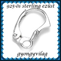 925-ös sterling ezüst ékszerkellék: fülbevalóalap biztonsági kapoccsal EFK K 21, Gyöngy, ékszerkellék, Egyéb alkatrész, EFK K 21 --- 925-ös fémjellel ellátott valódi ezüst (bevizsgált)fülbevalóalap, biztonsági k..., Alkotók boltja