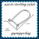 925-ös sterling ezüst ékszerkellék: fülbevalóalap biztonsági kapoccsal EFK K 32, Gyöngy, ékszerkellék, Egyéb alkatrész, Alkotók boltja