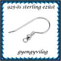 925-ös sterling ezüst ékszerkellék: fülbevalóalap akasztós EFK A 10-3, Gyöngy, ékszerkellék, Egyéb alkatrész, EFK A 10-3 --- 925-ös fémjellel ellátott valódi ezüst (bevizsgált) akasztós fülbevalóalap. ..., Alkotók boltja