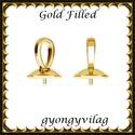 Gold Filled medálkapocs EMK 68 G , Gyöngy, ékszerkellék, Egyéb alkatrész, 14K arannyal bevont (gold filled) 925-ös ezüst medálkapocs  A méreteket a fotón láthatod. A swarovsk..., Alkotók boltja