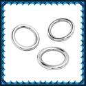 925-ös sterling ezüst ékszerkellék: szerelőkarika zárt ESZK Z 6,5 x 0,7 mm-es  RH, Gyöngy, ékszerkellék, Egyéb alkatrész, ESZK Z 6,5 x 0,7 mm-es  RH  925-ös valódi ezüst (bevizsgált) 6,5mm átmérőjű 0,7mm drótvastagságú ród..., Alkotók boltja