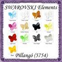 Ékszerkellék: Swarovski pillangó fűzhető 6mm több szín, Gyöngy, ékszerkellék, Swarovski kristályok, SWAROVSKI KRISTÁLY HOSSZÁBAN FÚRT PILLANGÓ , TÖBB SZÍNBEN !  Méret:6mm  Az ár egy darabra vo..., Alkotók boltja