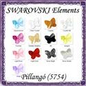 Ékszerkellék: Swarovski pillangó fűzhető 8mm több szín, Gyöngy, ékszerkellék, Swarovski kristályok, SWAROVSKI KRISTÁLY HOSSZÁBAN FÚRT PILLANGÓ , TÖBB SZÍNBEN !  Méret:8mm  Az ár egy darabra vo..., Alkotók boltja