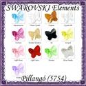 Ékszerkellék: Swarovski pillangó fűzhető 5mm több szín, Gyöngy, ékszerkellék, Swarovski kristályok, SWAROVSKI KRISTÁLY HOSSZÁBAN FÚRT PILLANGÓ , TÖBB SZÍNBEN !  Méret:5mm  Az ár egy darabra vo..., Alkotók boltja