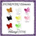 Ékszerkellék: Swarovski pillangó fűzhető 10mm több szín, Gyöngy, ékszerkellék, Swarovski kristályok, Az ár egy darabra vonatkozik! SWAROVSKI KRISTÁLY HOSSZÁBAN FÚRT PILLANGÓ , TÖBB SZÍNBEN !  Méret:10m..., Alkotók boltja