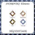 Ékszerkellék:  Swarovski négyzet 14mm  több színben , Gyöngy, ékszerkellék, Swarovski kristályok, Ékszerkészítés, Gyöngy, SWAROVSKI KRISTÁLY NÉGYZET  MEDÁL, TÖBB SZÍNBEN !   Méret: 14 mm Szín:több szín   Az ár egy darabra..., Alkotók boltja