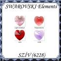 Ékszerkellék: Swarovski szív 18mm-es  több színben , Gyöngy, ékszerkellék, Swarovski kristályok, Ékszerkészítés, Gyöngy, SWAROVSKI KRISTÁLY  SZÍV TÖBB SZÍNBEN !  Méret:18mm  Az ár egy darabra vonatkozik!  A színtáblázato..., Alkotók boltja