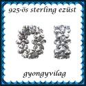 925-ös sterling ezüst ékszerkellék: köztes / gyöngy / dísz EKÖ 66 RH ródiumozott, Gyöngy, ékszerkellék, Egyéb alkatrész, EKÖ 66 RH Ródiummal bevont 925-ös valódi ezüst (bevizsgált) köztes / gyöngy / díszitőelem .    1 db ..., Alkotók boltja