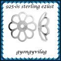 925-ös sterling ezüst gyöngykupak  1db/ csomag  EGYK 29-8, Gyöngy, ékszerkellék, Fém köztesek, EGYK 29-8  925-ös fémjellel ellátott valódi ezüst (bevizsgált) gyöngykupak.   1 db / csomag    Méret..., Alkotók boltja