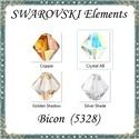 Ékszerkellék: Swarovski bicon 5mm-es  AB bevonatos 6db/cs több színben , Gyöngy, ékszerkellék, Swarovski kristályok, Ékszerkészítés, Gyöngy, Eredeti swarovski kristály bicon több színben. Szín: több színben Méret:5mm 6db/ csomag   A 6db-ot ..., Alkotók boltja