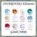 Ékszerkellék: Swarovski kristály gömb 4mm AB bevonatos 4db/csomag több színben, Gyöngy, ékszerkellék, Swarovski kristályok, Eredeti swarovski kristály AB bevonatos gömb több színben.  Méret:4mm 4db/ csomag   A 4db-ot több sz..., Alkotók boltja