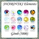 Ékszerkellék: Swarovski kristály gömb 8mm AB bevonatos 1db/csomag több színben, Gyöngy, ékszerkellék, Swarovski kristályok, Alkotók boltja