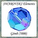 Ékszerkellék: Swarovski kristály gömb 10mm AB bevonatos 1db/csomag Sapphire AB színben, Gyöngy, ékszerkellék, Swarovski kristályok, Ékszerkészítés, Gyöngy, Eredeti swarovski kristály AB bevonatos gömb Sapphire AB színben.  Méret:10mm 1db/ csomag    A negy..., Alkotók boltja