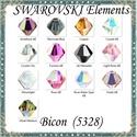 Ékszerkellék: Swarovski bicon 3mm-es AB bevonatos több színben GYSWGY B3 AB , Gyöngy, ékszerkellék, Swarovski kristályok, Ékszerkészítés, Gyöngy, Eredeti  swarovski kristály bicon több színben. Szín: több színben Méret:3mm 10db/ csomag   A 10db-..., Alkotók boltja