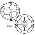 Ékszerkellék: Swarovski kristály gömb 6mm AB bevonatos 2db/csomag több színben, Gyöngy, ékszerkellék, Swarovski kristályok, Eredeti swarovski kristály AB bevonatos gömb több színben.  Méret:6mm 2db/ csomag   A 2db-ot több sz..., Alkotók boltja