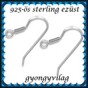 925-ös finomságú sterling ezüst fülbevaló kapocs EFK A 09-2, Gyöngy, ékszerkellék, Egyéb alkatrész, EFK A 09-2 --- 925-ös fémjellel ellátott valódi ezüst (bevizsgált) beakasztós fülbevalóalap..., Alkotók boltja