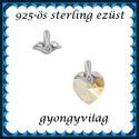 925-ös sterling ezüst ékszerkellék: medáltartó, medálkapocs EMK 84, Gyöngy, ékszerkellék, Egyéb alkatrész,  EMK 84   925-ös ezüst medálkapocs.  A méreteket a fotón láthatod  1db/csomag   Ezt a medálkapcsot a..., Alkotók boltja