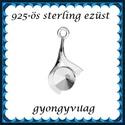 925-ös sterling ezüst ékszerkellék: medál / pandora / fityegő EM25, Gyöngy, ékszerkellék, Fém köztesek, EM25  925-ös valódi ezüst (bevizsgált) medál, 6mm-es swarovski kúpos rivolihoz, pandora, sharm..., Alkotók boltja