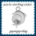 925-ös sterling ezüst ékszerkellék: medál / pandora / fityegő EM22, Gyöngy, ékszerkellék, Fém köztesek, EM22  925-ös valódi ezüst (bevizsgált) medál, 6mm-es swarovski kúpos rivolihoz, pandora, sharm..., Alkotók boltja
