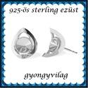 925-ös sterling ezüst ékszerkellék: fülbevalóalap bedugós EFK B 42, Gyöngy, ékszerkellék, Egyéb alkatrész, Ékszerkészítés, Mindenmás, Szerelékek, EFK B 42  925-ös fémjellel ellátott valódi ezüst (bevizsgált) bedugós fülbevalóalap, 6mm-es swarovs..., Alkotók boltja