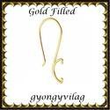 925-ös sterling ezüst ékszerkellék: fülbevalóalap akasztós  EFK A 82 au gold filled, Gyöngy, ékszerkellék, Egyéb alkatrész, Ékszerkészítés, Gyöngy, EFK A 82 au   Két rétegű, 24 karátos arannyal bevont (gold filled) 925-ös ezüst fülbevalókapocs  1 ..., Alkotók boltja