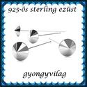 925-ös sterling ezüst ékszerkellék: szerelőpálca SZP-SP 01, Gyöngy, ékszerkellék, Egyéb alkatrész, , Alkotók boltja